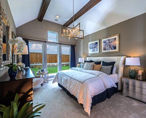 Kathy Andrews Interiors Landon Homes Lexington Country Impression Series 4655 Frisco Texas Master Bed 2