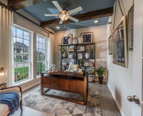 Kathy Andrews Interiors Landon Homes Lexington Country Impression Series 4655 Frisco Texas Study