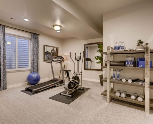 Kathy Andrews Interiors Richfield Homes Summer Hawk at Fox Meadow Longmont CO Fitness