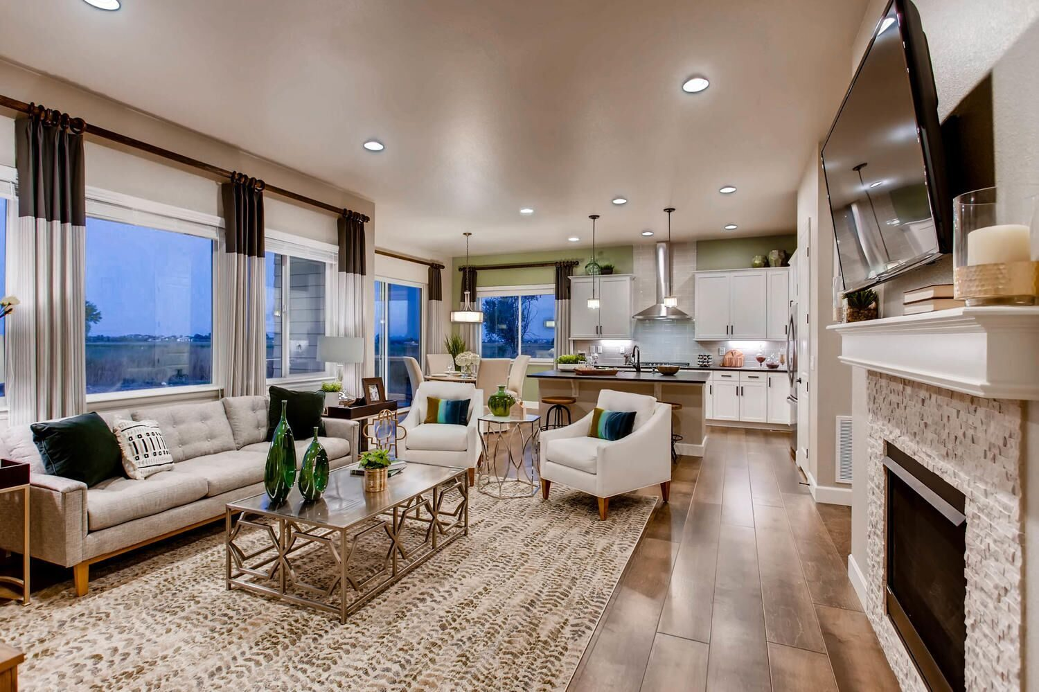Kathy Andrews Interiors Richfield Homes The Ridge at Harmony Road Windsor CO Model overview