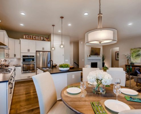 Kathy Andrews Interiors Richfield Homes The Ridge at Harmony Road Windsor CO Kitchen and Dining