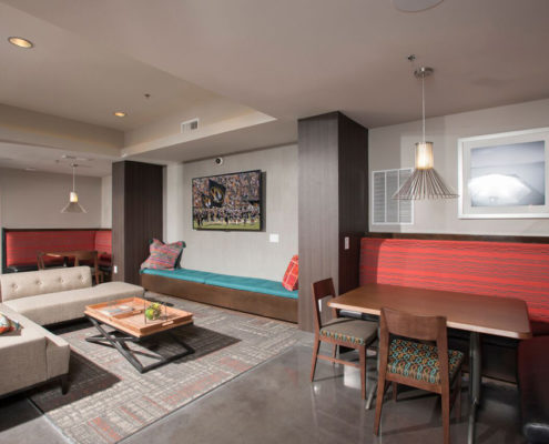 Kathy Andrews Interiors Student Housing - The Todd - Clubroom