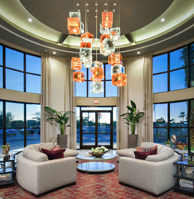 Kathy Andrews Interiors The Core Scottsdale Multifamily Leasing and Amenity Center Lobby 10