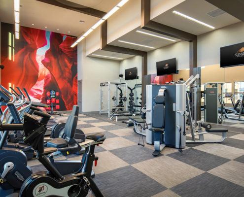 Kathy Andrews Interiors The Core Scottsdale Multifamily Leasing and Amenity Center Fitness