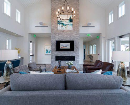 Active Adult Living Community Spaces - Great Room Kathy Andrews Interiors - David Weekley Homes Encore at Briar Chapel