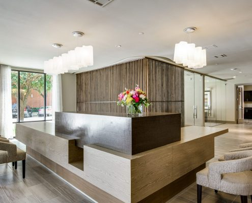 Kathy Andrew Interiors Multifamily Interior Design Leasing and Amenity Center Alexan Downtown Lobby 10