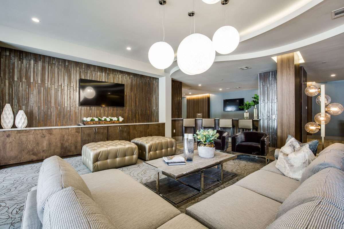 Kathy Andrew Interiors Multifamily Interior Design Leasing and Amenity Center Alexan Downtown Lobby 2