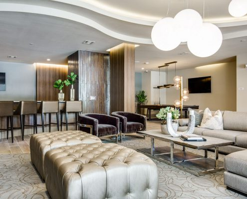 Kathy Andrew Interiors Multifamily Interior Design Leasing and Amenity Center Alexan Downtown Lobby 3