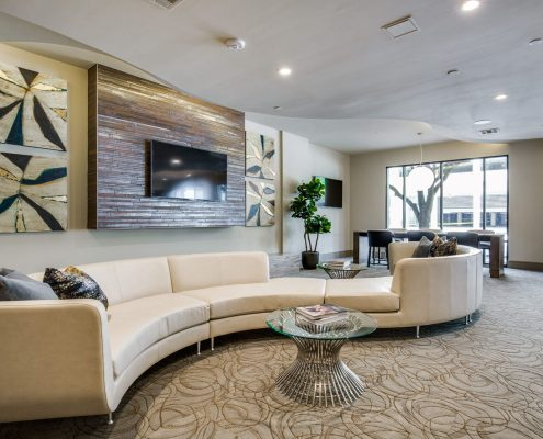 Kathy Andrew Interiors Multifamily Interior Design Leasing and Amenity Center Alexan Downtown Lobby 5