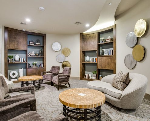 Kathy Andrew Interiors Multifamily Interior Design Leasing and Amenity Center Alexan Downtown Lobby 6