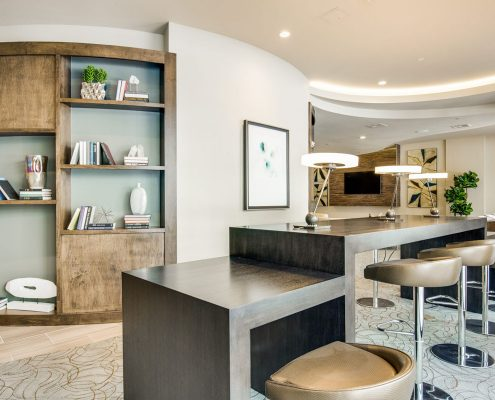 Kathy Andrew Interiors Multifamily Interior Design Leasing and Amenity Center Alexan Downtown Lobby 7