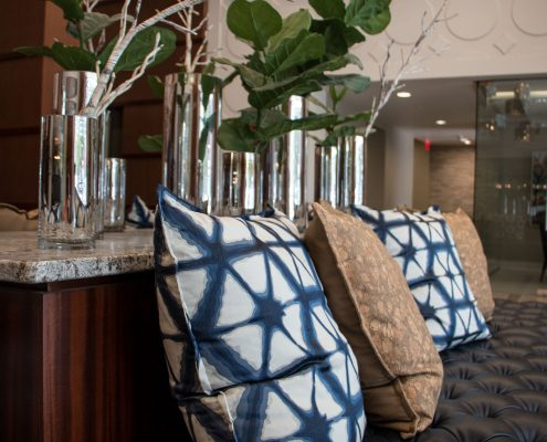 Kathy Andrew Interiors Multifamily Interior Design Leasing and Amenity Center Millennium Rainey Street Lobby Accents