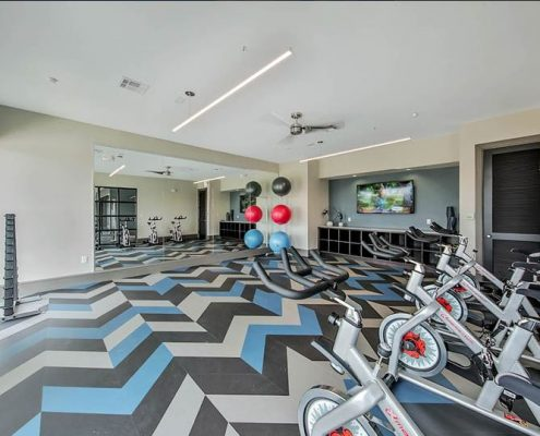 Kathy Andrews Interiors Multifamily Interior Design Streamsong Fitness Area 2