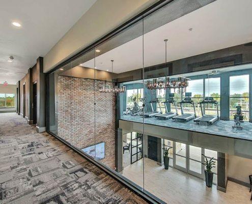 Kathy Andrews Interiors Multifamily Interior Design Streamsong Fitness Area Overlook