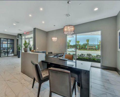 Kathy Andrews Interiors Multifamily Interior Design Streamsong Leasing Desk