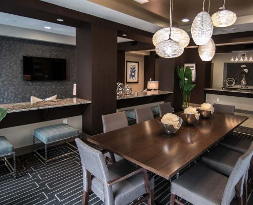 Kathy Andrews Interiors Multifamily Interior Design Leasing and Amenity Center Pearl Residences at CityCentre Clubroom 1