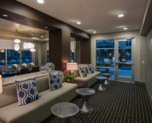 Kathy Andrews Interiors Multifamily Interior Design Leasing and Amenity Center Pearl Residences at CityCentre Clubroom 4
