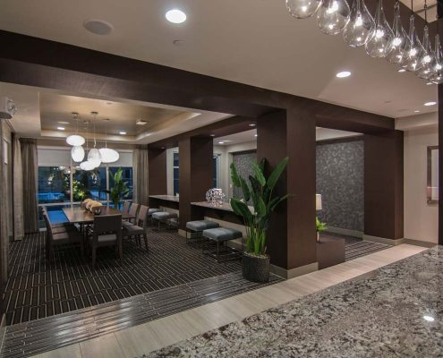 Kathy Andrews Interiors Multifamily Interior Design Leasing and Amenity Center Pearl Residences at CityCentre Clubroom 6