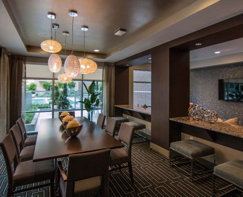 Kathy Andrews Interiors Multifamily Interior Design Leasing and Amenity Center Pearl Residences at CityCentre Clubroom2