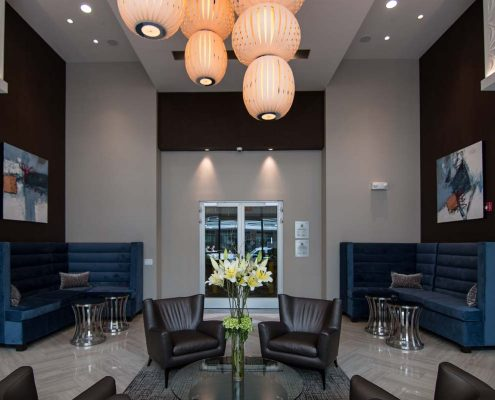 Kathy Andrews Interiors Multifamily Interior Design Leasing and Amenity Center Pearl Residences at CityCentre Lobby 3