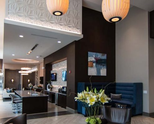 Kathy Andrews Interiors Multifamily Interior Design Leasing and Amenity Center Pearl Residences at CityCentre Lobby 6