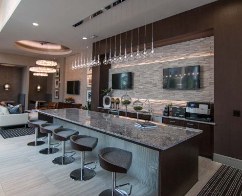 Kathy Andrews Interiors Multifamily Interior Design Leasing and Amenity Center Pearl Residences at CityCentre Lobby 7