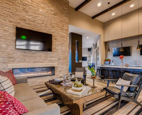Kathy Andrews Interiors Multifamily Interior Design Leasing and Amenity Center Ironwood at Red Rocks Clubhouse