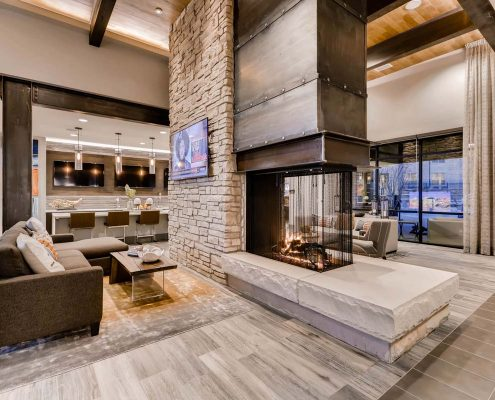 Kathy Andrews Interiors Multifamily Interior Design Leasing and Amenity Center Venue at the Promenade Clubhouse 4