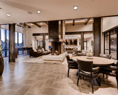 Kathy Andrews Interiors Multifamily Interior Design Leasing and Amenity Center Venue at the Promenade Clubhouse