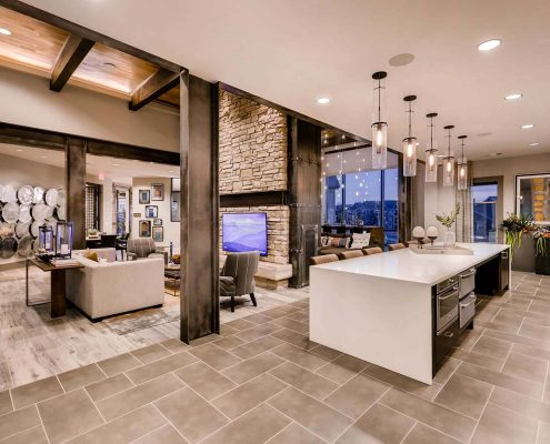 Kathy Andrews Interiors Multifamily Interior Design Leasing and Amenity Center Venue at the Promenade Kitchen 2