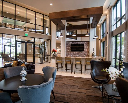 Kathy Andrews Interiors Multifamily Interior Design Domain Memorial Leasing and Amenity Centers Club Room 8