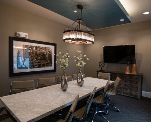 Kathy Andrews Interiors Multifamily Interior Design Domain Memorial Leasing and Amenity Centers Conference Room