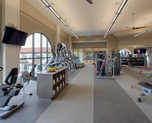 Kathy Andrews Interiors Multifamily Interior Design Domain Memorial Leasing and Amenity Centers Fitness Center
