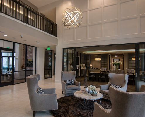 Kathy Andrews Interiors Multifamily Interior Design Domain Memorial Leasing and Amenity Centers Lobby 2