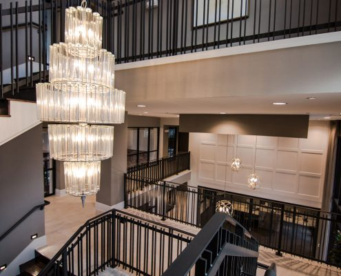 Kathy Andrews Interiors Multifamily Interior Design Domain Memorial Leasing and Amenity Centers Lobby 3