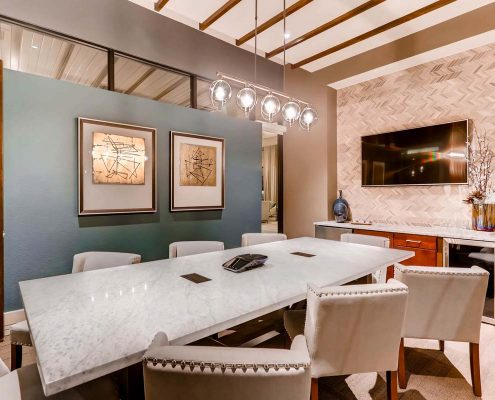 Kathy Andrews Interiors Multifamily Interior Design Leasing and Amenity Centers Touchstone Conference Room