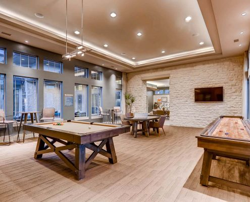 Kathy Andrews Interiors Multifamily Interior Design Leasing and Amenity Centers Touchstone Game Room