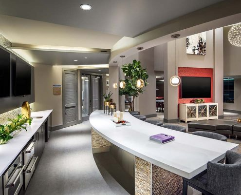 Kathy Andrews Interiors The Core Scottsdale Multifamily Leasing and Amenity Center Clubroom