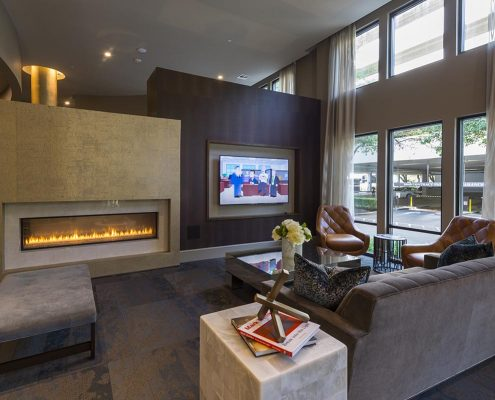 Kathy Andrews Interiors Multifamily Interior Design Alexan 5151 Leasing and Amenity Center Clubroom 3