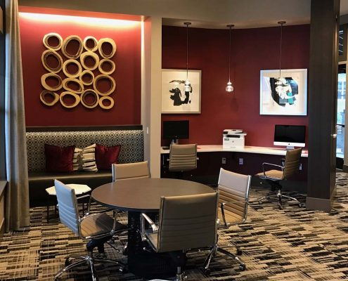 Kathy Andrews Interiors Multifamily Interior Design Leasing and Amenity Center Ironwood at Red Rocks Business Center