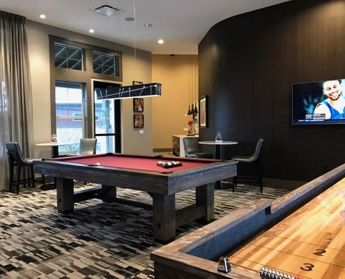 Kathy Andrews Interiors Multifamily Interior Design Leasing and Amenity Center Ironwood at Red Rocks Game Room