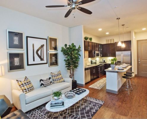 Kathy Andrews Interiors Multifamily Interior Design Model Unit Alexan Spring Crossing 11