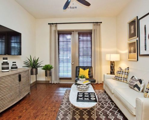 Kathy Andrews Interiors Multifamily Interior Design Model Unit Alexan Spring Crossing 15