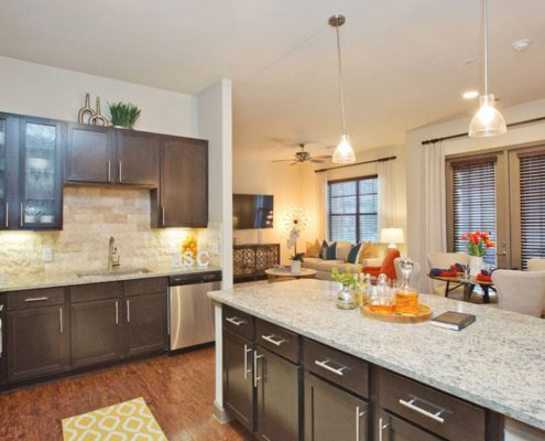 Kathy Andrews Interiors Multifamily Interior Design Model Unit Alexan Spring Crossing 6