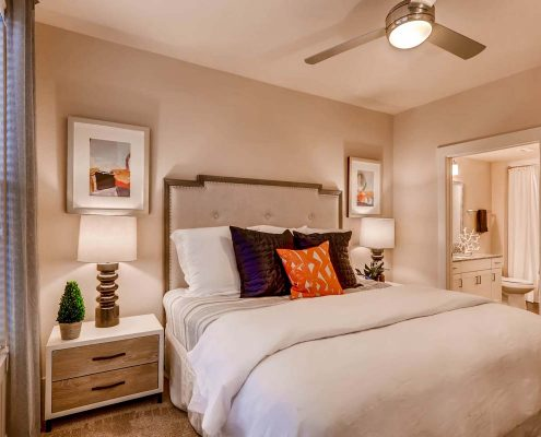 Kathy Andrews Interiors Multifamily Interior Design Model Units Touchstone Bedroom