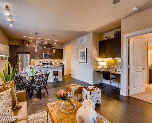 Kathy Andrews Interiors Multifamily Interior Design Model Units Touchstone Living Room
