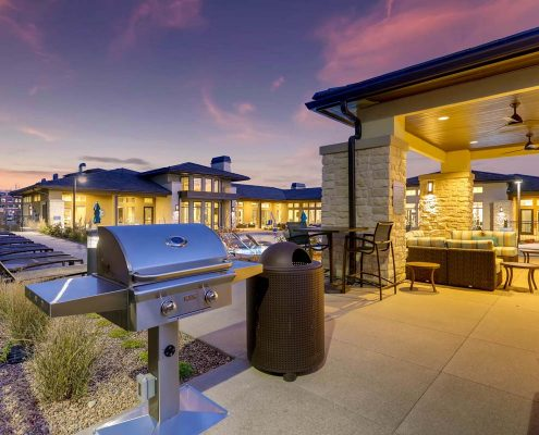 Kathy Andrews Interiors Multifamily Interior Design Outdoor Touchstone Outdoor Grill Area