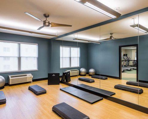 Kathy Andrews Interiors Student Housing Interior Design College Suites at Hudson Valley Yoga