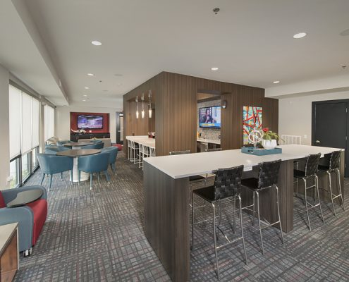 Kathy Andrews Interiors Student Housing Interior Design The Domain at Tallahassee Clubroom 2