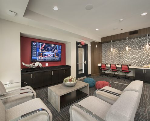 Kathy Andrews Interiors Student Housing Interior Design The Domain at Tallahassee Clubroom 3
